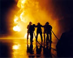 Picture of students training for their Fire Academy II Certificate at CMC.