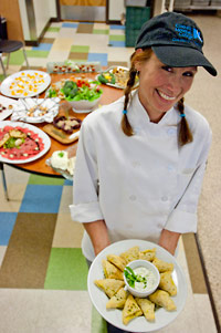 Picture of a student earning her Sustainable Cuisine Operations II: Professional Certificate at CMC.