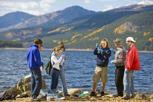 Picture of students earning their Environmental Studies Emphasis (AA) degree at CMC.