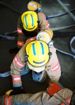 Picture of students earning their Fire Science Technology (AAS) degree at CMC.