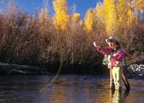 Picture of student earning their Fly Fishing Guide Certificate of Completion from CMC.