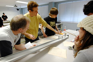 Picture of students working toward their CMC and CU-Boulder Engineering Agreement (AGS)